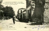 Campagne d' Orient 1914-1918, Monastir (Serbie), Reu du Roi Pierre, après le bombardement