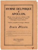 Hymne Delphique à Apollon