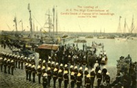 The Landing of H. E. High Commissioner at Candia Guard of Honour 27th Inniskillings, October 17th 1907