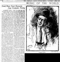 Συνέντευξη του Κωστή Νικολάου σε αμερικανική εφημερίδα το 1922