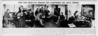 Ο Λ. Ραπίτης και ο Κ. Μαρκής σε ραδιοφωνική εκπομπή στη Νέα Υόρκη το 1949