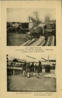 Salonique, Chargement de bois de construction à Betchinar Salonique, Soldats Grecs Vénizelistes