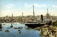 Constantinople, Quai de Galata et Vue de Stamboul