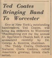 Ο Κ. Γκαντίνης με την ορχήστρα του Teddy Coates το 1957