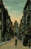Constantinople, Rue Hendek et Tour de Galata