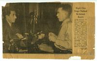 Απόκομμα εφημερίδας με αναφορά στον Γιώργο Κατσαρό (Θεολογίτη)