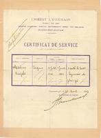 Βεβαίωση απασχόλησης του Άγγελου Μαρτίνο στην τράπεζα Credit Lyonnais