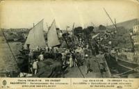 Guerre 1914-15-16... En Orient, Salonique, Embarquement des volontaires grecs pour Sed-Dul Bahr