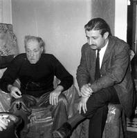 Ο Μάρκος Βαμβακάρης και ο Γιάννης Κουνάδης