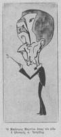 Σκίτσο του Ά. Μαρτίνο από τον Σ. Ιατρίδη
